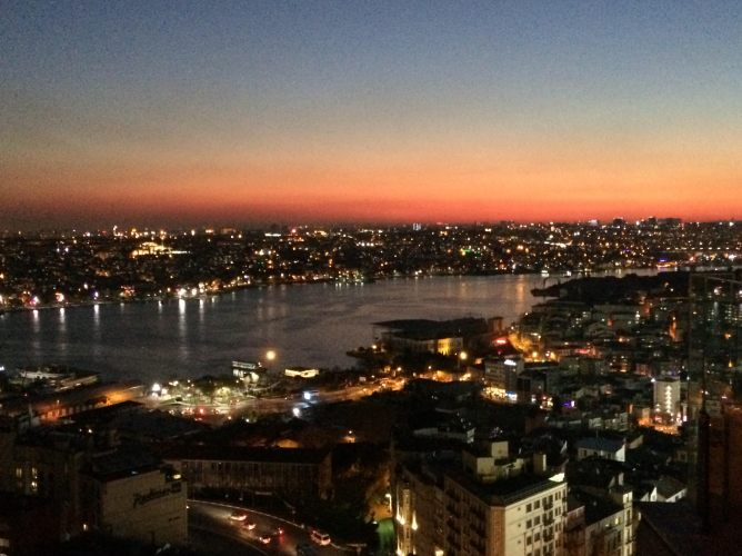 The view from Marmara Pera hotel's Rooftop Bar