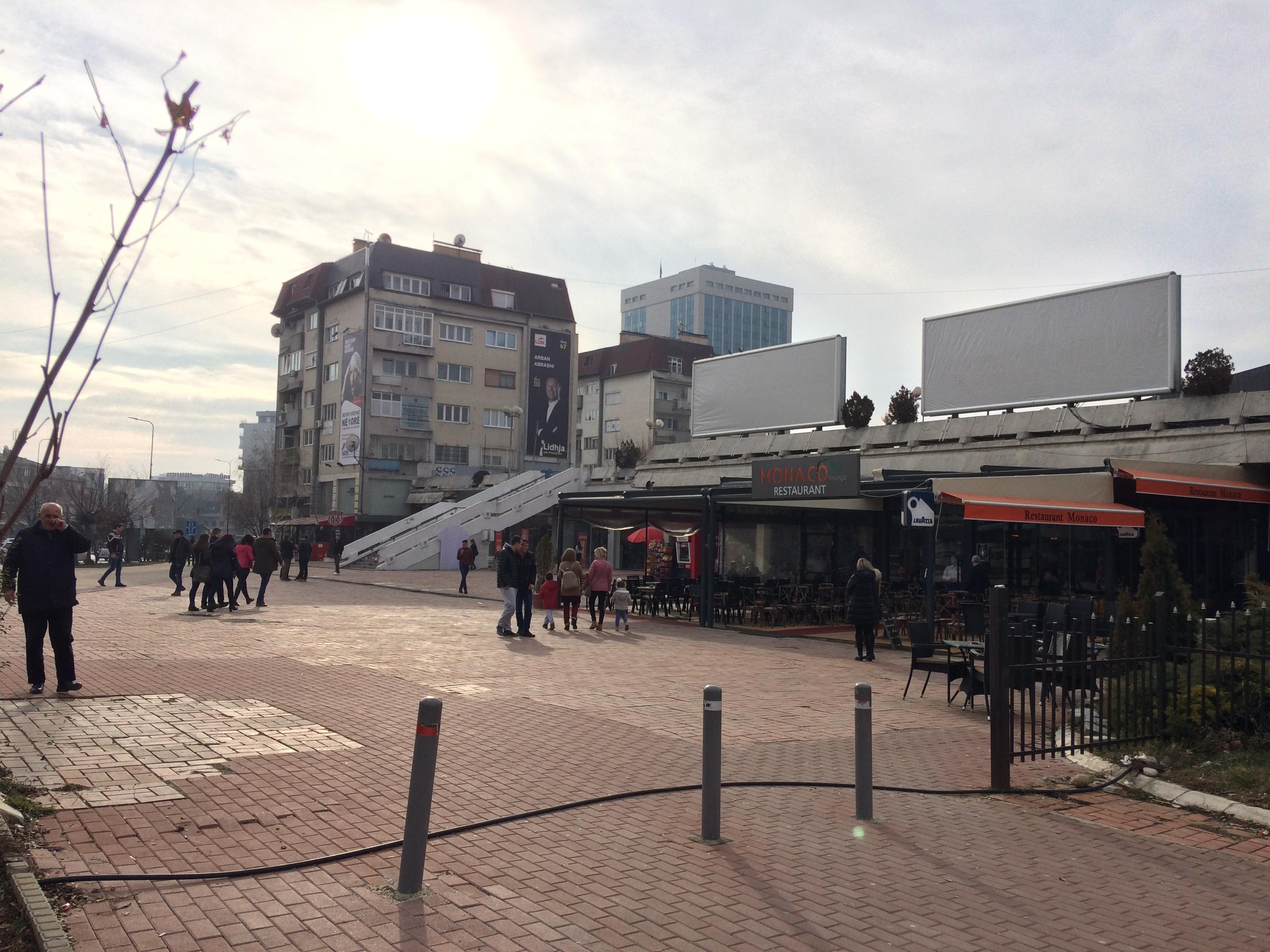 Empty NEWBORN plaza in Pristina, Kosovo