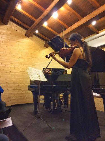 Violin concert at Rifugio della Rocca
