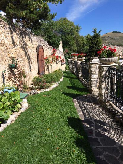 Terraced garden in Calascio