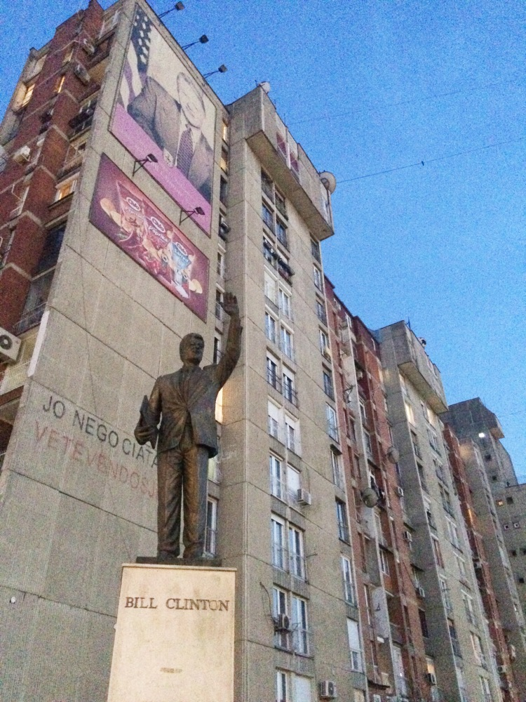 Statue of Bill Clinton in Pristina, Kosovo