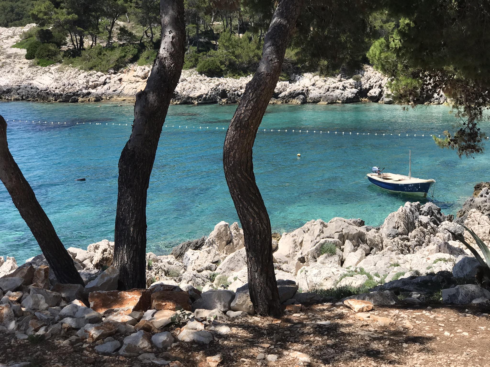 Milna Beach on Hvar Island, Croatia