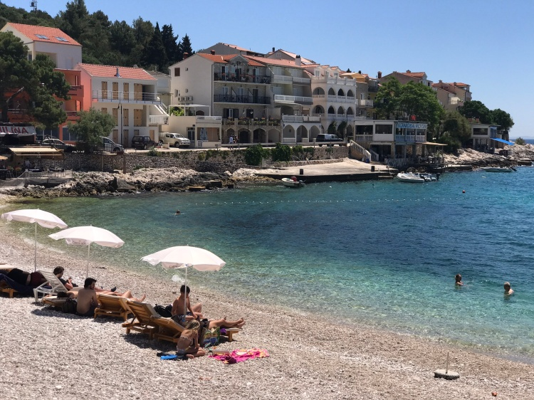 Milna Beach on Hvar Island, Croatia