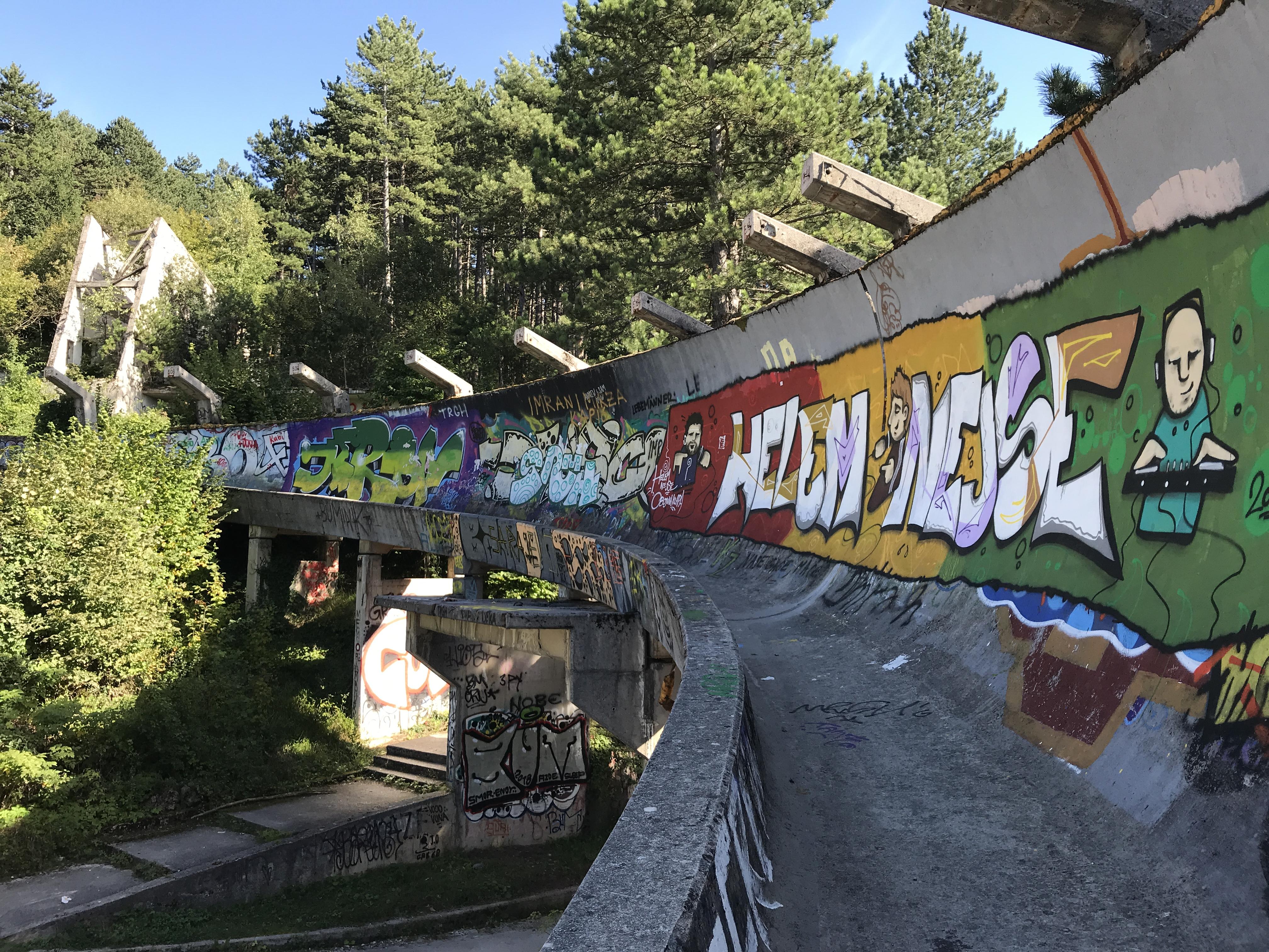 Sarajevo Bobsled Track Ruins