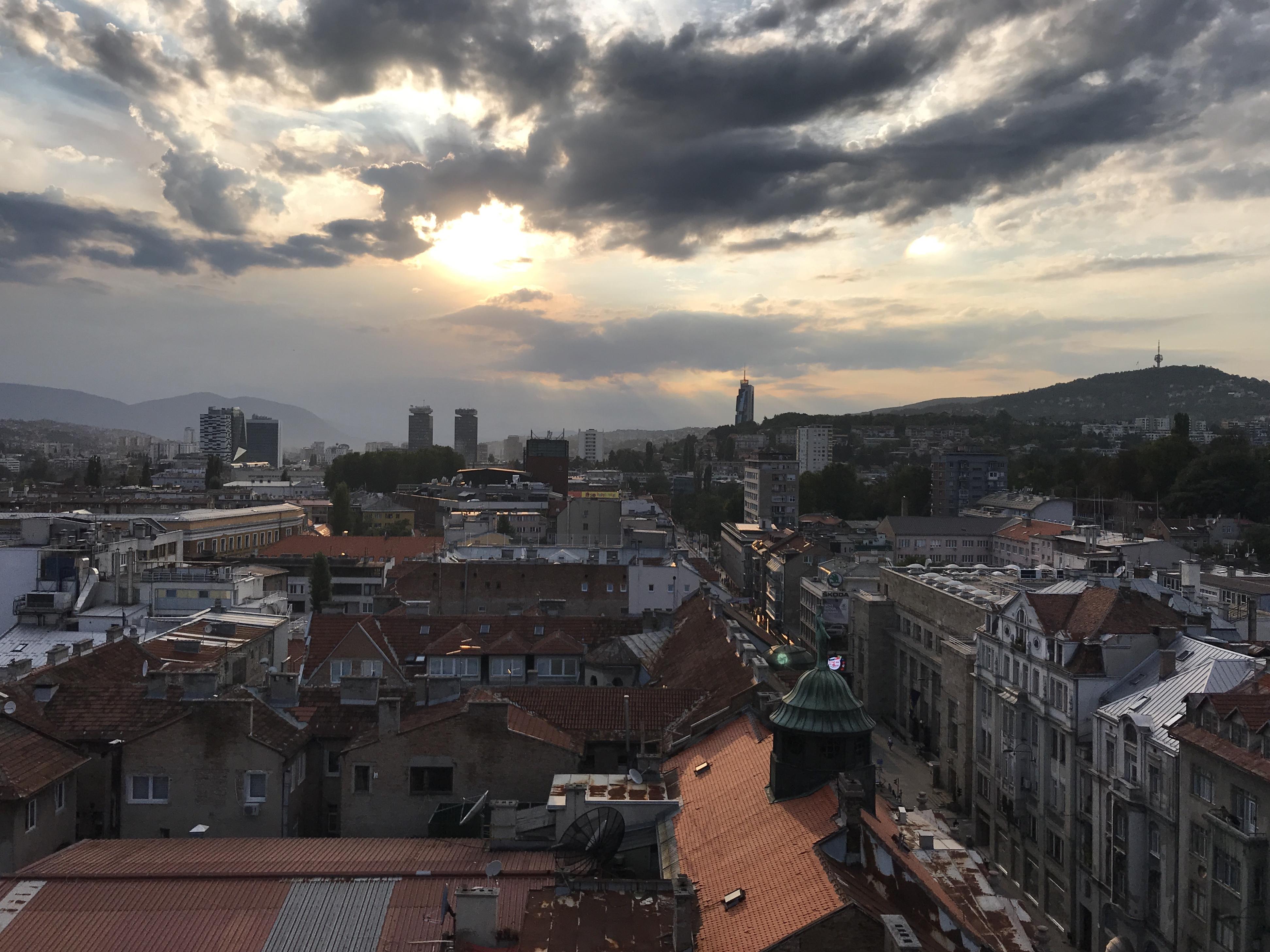 Sunset in Sarajevo